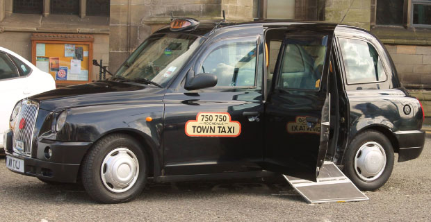 Black Cab with Wheelchair Access